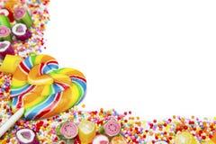Sucreries et lucettes colorées délicieuses Photos libres de droits