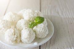 Sucreries faites maison avec la noix de coco Image stock