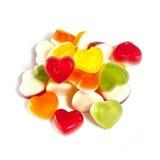 Sucreries gommeuses de coeur coloré   Images stock
