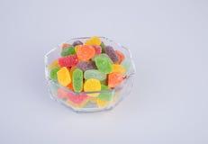 sucreries ou sucreries de gelée sur le fond photos stock