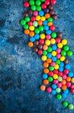 Sucreries rondes colorées Image libre de droits