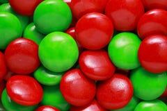 Sucreries rouges et vertes image stock