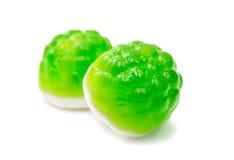 Sucreries vertes de gelée d'isolement Image stock