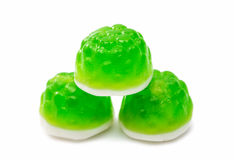 Sucreries vertes de gelée d'isolement Photo stock