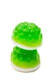 Sucreries vertes de gelée d'isolement Image libre de droits