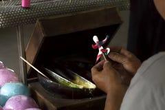 Sucrez l'art chinois fait main traditionnel de poupée au marché asiatique Image stock