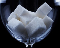Sucrez les cubes Photos stock