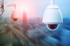 Sucurity cctv camera and urban safety system Stock Photography