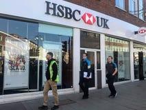 sucursal bancaria británica del hsbc fotos de archivo