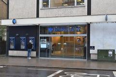 Sucursal bancaria de Barclays Foto de archivo libre de regalías
