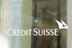 Sucursal bancaria de Credit Suisse Fotos de archivo libres de regalías