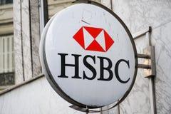 Sucursal bancaria de HSBC fotografía de archivo