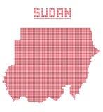 Sudán África Dot Map Fotos de archivo