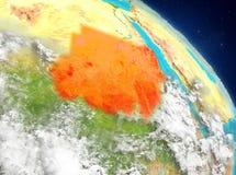 Sudán de la órbita ilustración del vector