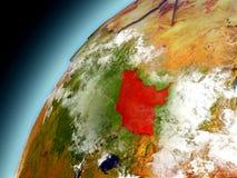 Sudán del sur de la órbita de Earth modelo Imagenes de archivo