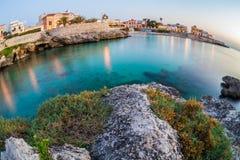 Sud del litorale dell'Italia Gallipoli Immagine Stock