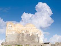 A sud della Tunisia, Djerba, la moschea antica del lunatico di Fadh Immagini Stock