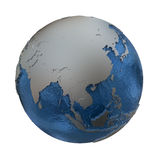 Sud-est asiatico su terra d'argento Immagini Stock Libere da Diritti