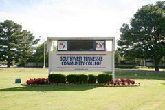 Sud-ouest Tennessee Community College Macon Road photographie stock