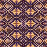Sud-ovest indigeno americano, modello senza cuciture indiano, azteco, navajo Progettazione geometrica illustrazione di stock