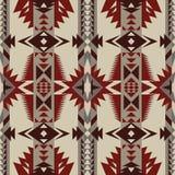 Sud-ovest indigeno americano, modello senza cuciture indiano, azteco, navajo Progettazione geometrica illustrazione vettoriale