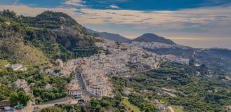Sud Spagna di vista del villaggio immagine stock