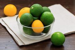 Sudachi; зеленый малый цитрус Стоковая Фотография