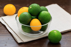 Sudachi; green small citrus Stock Photography