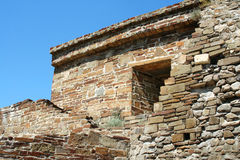 克里米亚堡垒热那亚人的sudak 库存图片