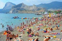 Sudak beach, Crimea Stock Image