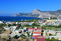 Sudak city. Crimea. Ukraine Royalty Free Stock Photography