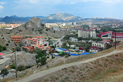 Sudak cityscape Stock Photos