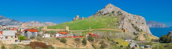 Sudak fortress in Crimea Stock Photo