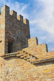 Sudak fortress tower Royalty Free Stock Photo