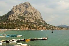 Sudak, playa Fotografía de archivo libre de regalías