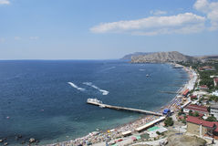 Sudak stad i Krim Royaltyfri Fotografi