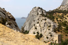 Sudak village, Crimea Royalty Free Stock Images
