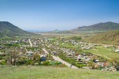 Sudak y sus suburbios Foto de archivo libre de regalías