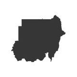 Sudan översiktskontur vektor illustrationer