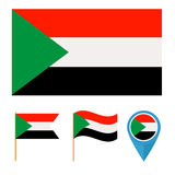 Sudan, country flag Stock Image