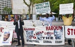 Sudan demonstration Stock Photos