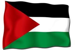 Sudan Flag. Waving flag of Sudan isolated on white royalty free illustration