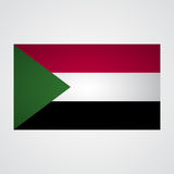Sudan flag on a gray background. Vector illustration Royalty Free Stock Photo