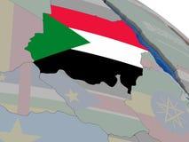 Sudan with flag Stock Photo