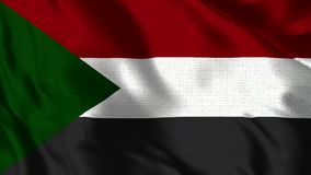 Sudan Flag - Realistic 4K - 30 fps flag of the Sudan waving in the wind. royalty free illustration