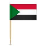 Sudan flag toothpick 10eps Royalty Free Stock Photos