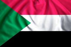 Sudan flaggaillustration vektor illustrationer