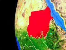 Sudan från utrymme royaltyfri illustrationer