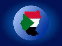 Sudan globe Stock Photography
