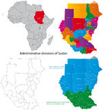 Sudan map. Administrative map of Republic of the Sudan Stock Photography